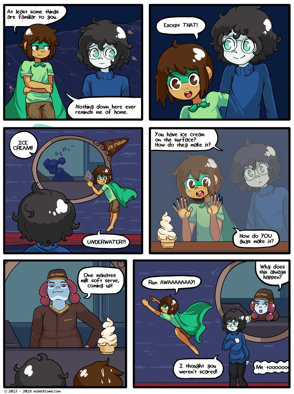 Seasick the underwater adventure comic, chapter two page ten